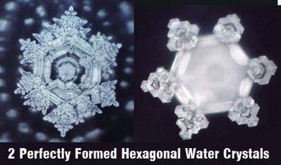 hexagonal water crystals